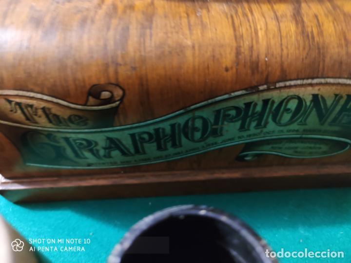 Radios antiguas: MAGNIFICO Y PRECIOSO FONOGRAFO COLUMBIA FUNCIONANDO CON UN CILINDRO VER VIIDEO - Foto 4 - 221927468