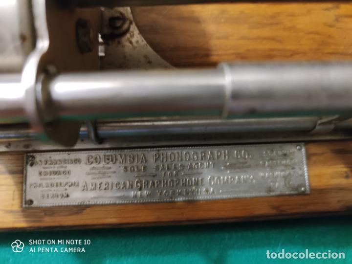 Radios antiguas: MAGNIFICO Y PRECIOSO FONOGRAFO COLUMBIA FUNCIONANDO CON UN CILINDRO VER VIIDEO - Foto 5 - 221927468
