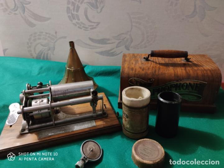 Radios antiguas: MAGNIFICO Y PRECIOSO FONOGRAFO COLUMBIA FUNCIONANDO CON UN CILINDRO VER VIIDEO - Foto 8 - 221927468
