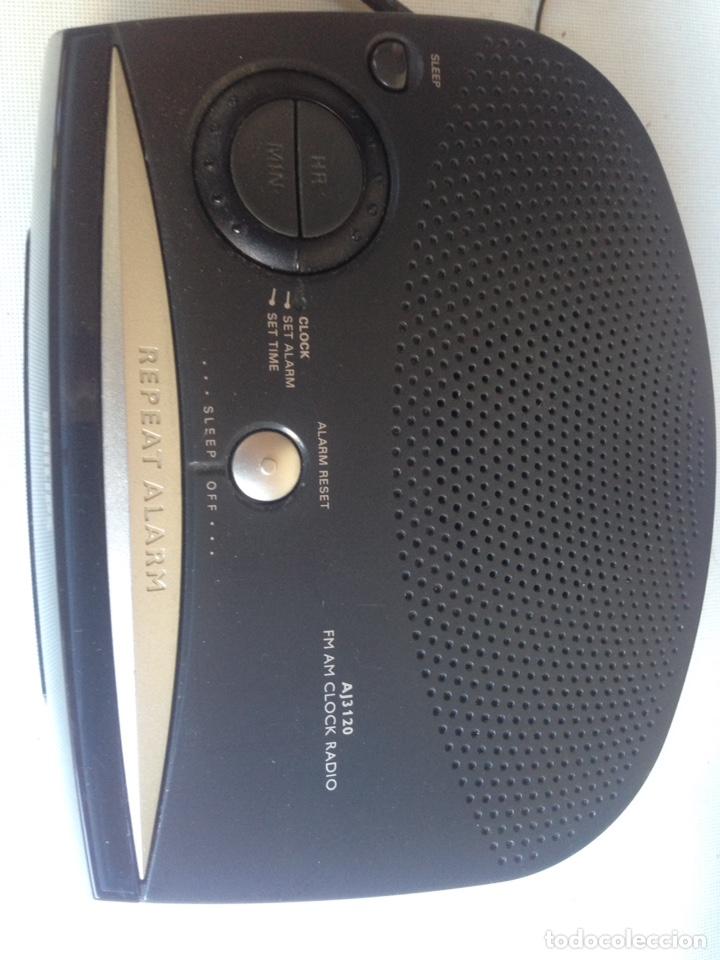 Radios antiguas: RADIO DESPERTADOR ALARMA PHILIPS - Foto 2 - 222084157