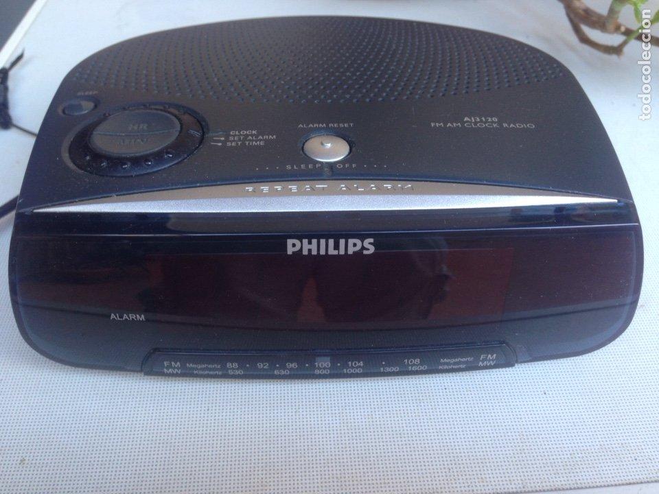 RADIO DESPERTADOR ALARMA PHILIPS (Radios, Gramófonos, Grabadoras y Otros - Transistores, Pick-ups y Otros)