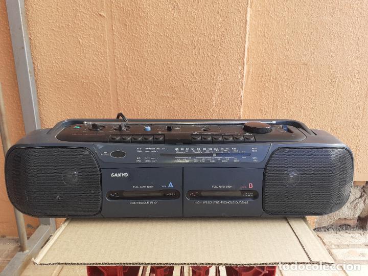 RADIO CASETTE RADIOCASETTE SANYO MODELO MW731K FUNCIONANDO (Radios, Gramófonos, Grabadoras y Otros - Transistores, Pick-ups y Otros)