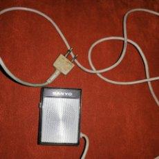 Radios antiguas: MINI MICROFONO - SANYO - ENVIO INCLUIDO.. Lote 222417502