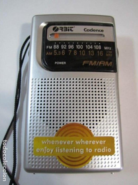 RADIO TRANSISTOR ORBIT CADENCE FUNCIONANDO (Radios, Gramófonos, Grabadoras y Otros - Transistores, Pick-ups y Otros)