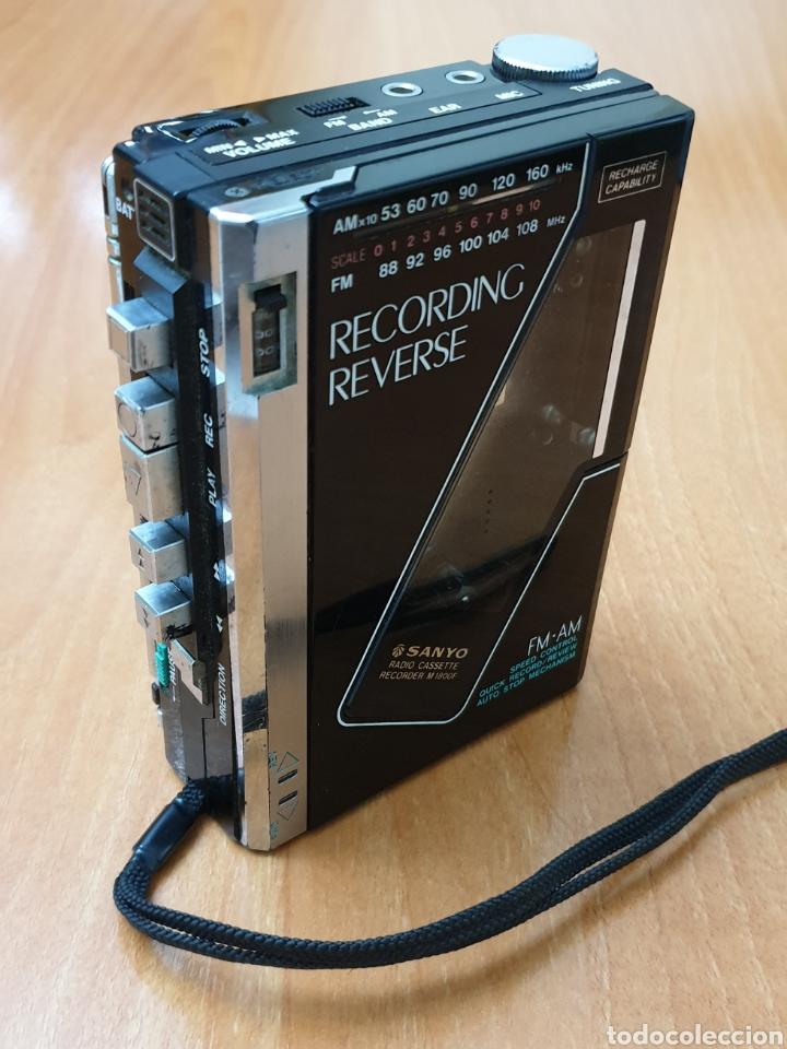 VINTAGE SANYO WALKMAN RADIO CASSETTE RECORDER M 1800F TIPO LADRILLO RARO Y UNICO!! (Radios, Gramófonos, Grabadoras y Otros - Transistores, Pick-ups y Otros)