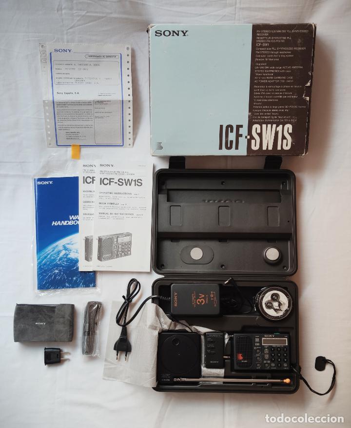 SONY ICF-SW1S RADIO MULTIBANDA KIT COMPLETO AM FM SW LW MW - USADA EN UN PAR DE OCASIONES - SW1 (Radios, Gramófonos, Grabadoras y Otros - Transistores, Pick-ups y Otros)