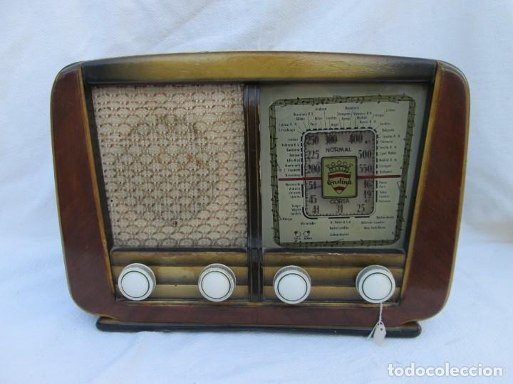 RADIO DE VÁLVULAS. CAJA DE MADERA ONDINA (Radios, Gramófonos, Grabadoras y Otros - Transistores, Pick-ups y Otros)