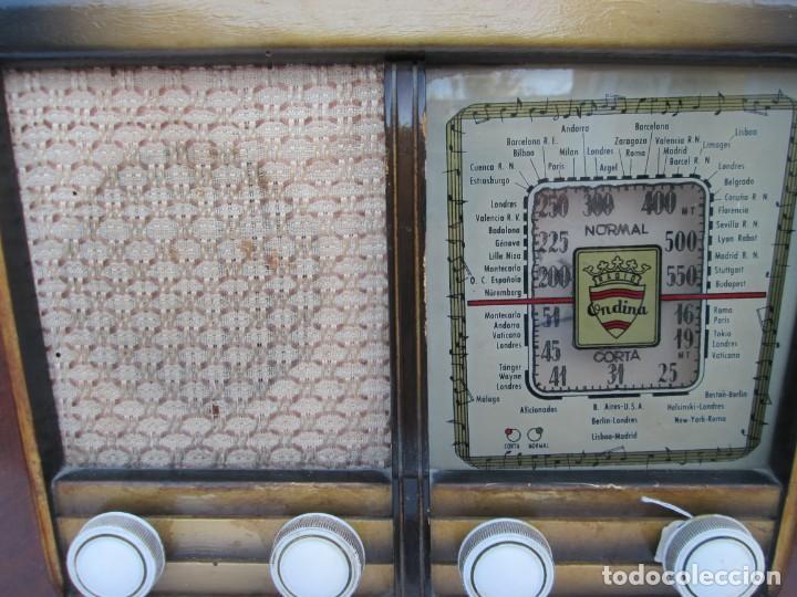 Radios antiguas: Radio de válvulas. Caja de madera Ondina - Foto 6 - 226114030
