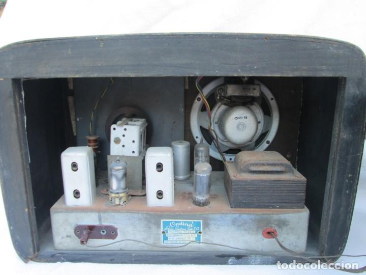 Radios antiguas: Radio de válvulas. Caja de madera Ondina - Foto 7 - 226114030