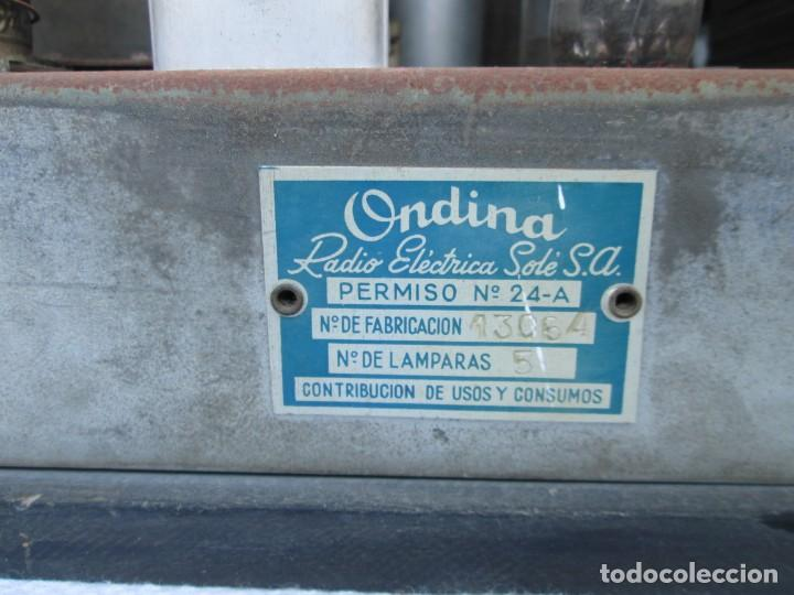 Radios antiguas: Radio de válvulas. Caja de madera Ondina - Foto 8 - 226114030