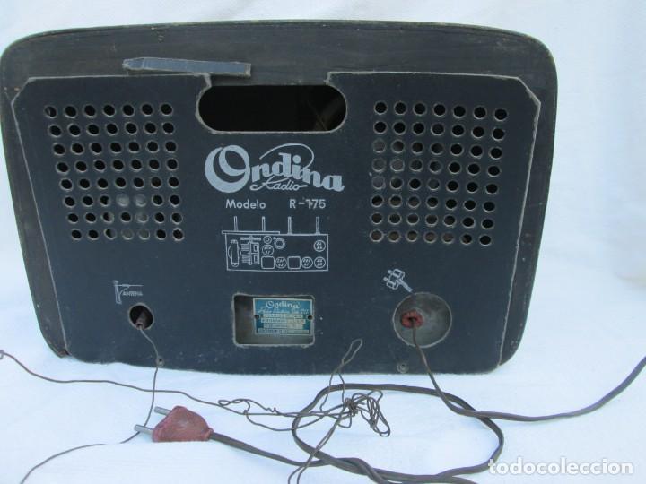 Radios antiguas: Radio de válvulas. Caja de madera Ondina - Foto 9 - 226114030