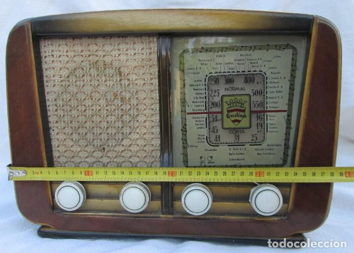 Radios antiguas: Radio de válvulas. Caja de madera Ondina - Foto 12 - 226114030