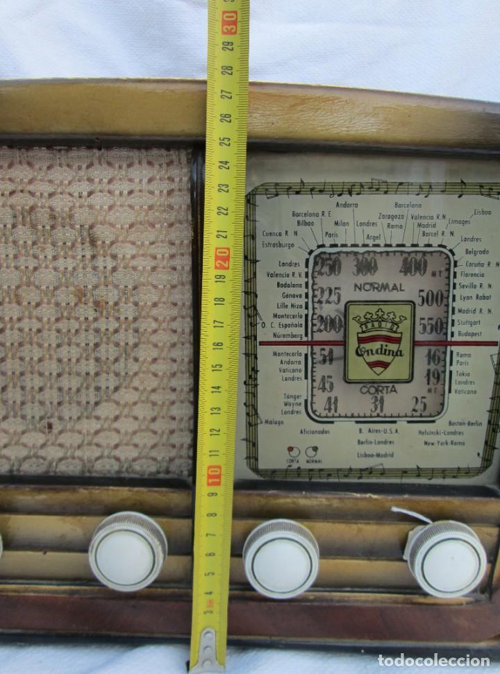 Radios antiguas: Radio de válvulas. Caja de madera Ondina - Foto 13 - 226114030