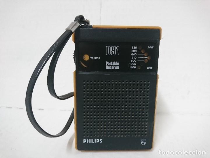 RADIO TRANSISTOR PHILIPS 091 (Radios, Gramófonos, Grabadoras y Otros - Transistores, Pick-ups y Otros)