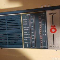 Radios antiguas: RADIO-TRANSISTOR KONIGER AM 1000. Lote 228976995