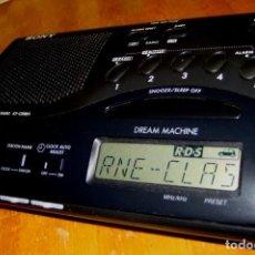Radios antiguas: RADIO SONY ICF-C20RDS RELOJ DESPERTADOR CON RDS. Lote 229740635