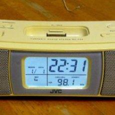 Radios antiguas: RADIO JVC RA-P30 DESPERTADOR CON IPOD REPRODUCTOR. Lote 229746275