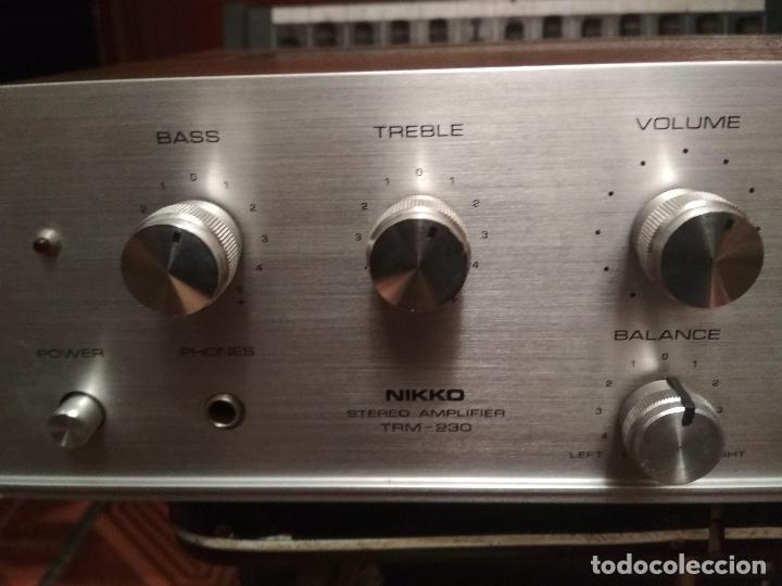 Radios antiguas: AMPLIFICADOR NIKKO TRM-230 VINTAGE MUY BUEN ESTADO RAMON ELECTRONICA - Foto 3 - 231073585