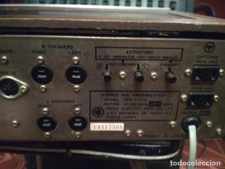 Radios antiguas: AMPLIFICADOR NIKKO TRM-230 VINTAGE MUY BUEN ESTADO RAMON ELECTRONICA - Foto 5 - 231073585