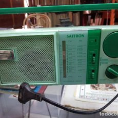 Radios antiguas: ANTIGUA RADIO TRANSISTOR VINTAGE SAITRON VERDE HONG KONG. Lote 231324850