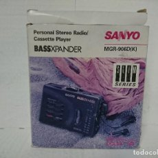 Radios antiguas: RADIO CASSETTE PLAYER SANYO MGR 906 D. Lote 231396775
