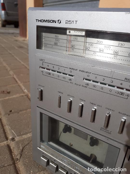 Radios antiguas: CADENA DE MÚSICA VINTAGE THOMSON 251T CASETTE RADIO - Foto 4 - 232000860