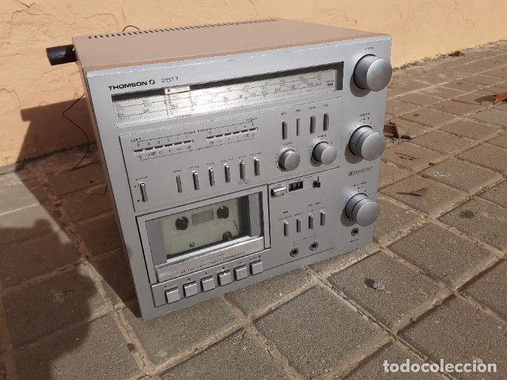 Radios antiguas: CADENA DE MÚSICA VINTAGE THOMSON 251T CASETTE RADIO - Foto 5 - 232000860