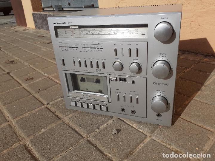 CADENA DE MÚSICA VINTAGE THOMSON 251T CASETTE RADIO (Radios, Gramófonos, Grabadoras y Otros - Transistores, Pick-ups y Otros)