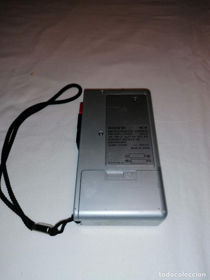Radios antiguas: Sony micro cassette corder M-9 - Foto 3 - 236061650