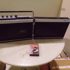 Radios antiguas: CURIOSO RADIO CASSETTE SANYO MODELO MR-416 DESPLEGABLE FUNCIONANDO NO VISIONADO NUNCA. Lote 236323800