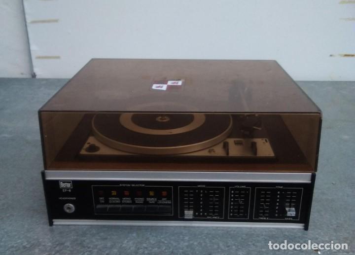 Radios antiguas: TOCADISCOS PLATO ANTIGUO MARCA BETTOR EF-8 20 CMS. DE ALTO X 42 DE ANCHO X 37 LARGO - Foto 2 - 236554005