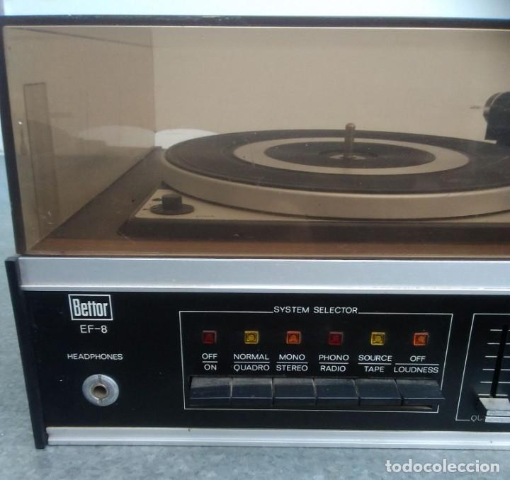 Radios antiguas: TOCADISCOS PLATO ANTIGUO MARCA BETTOR EF-8 20 CMS. DE ALTO X 42 DE ANCHO X 37 LARGO - Foto 3 - 236554005