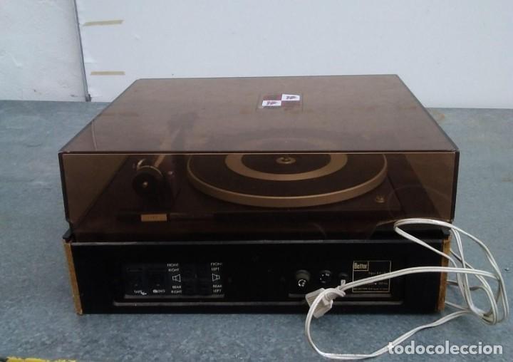 Radios antiguas: TOCADISCOS PLATO ANTIGUO MARCA BETTOR EF-8 20 CMS. DE ALTO X 42 DE ANCHO X 37 LARGO - Foto 9 - 236554005
