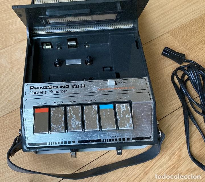 Radios antiguas: CASSETTE TAPE RECORDER,PRINZ SOUND,Japon. - Foto 3 - 237764400