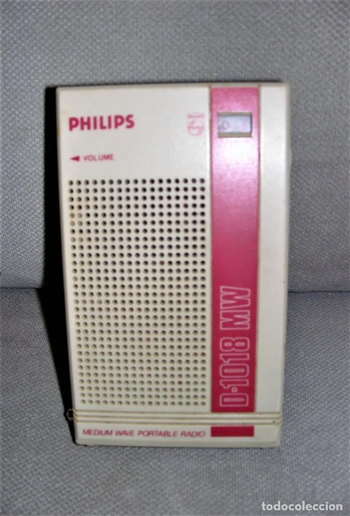 RADIO TRANSISTOR PHILIPS D-1018 MW (Radios, Gramófonos, Grabadoras y Otros - Transistores, Pick-ups y Otros)