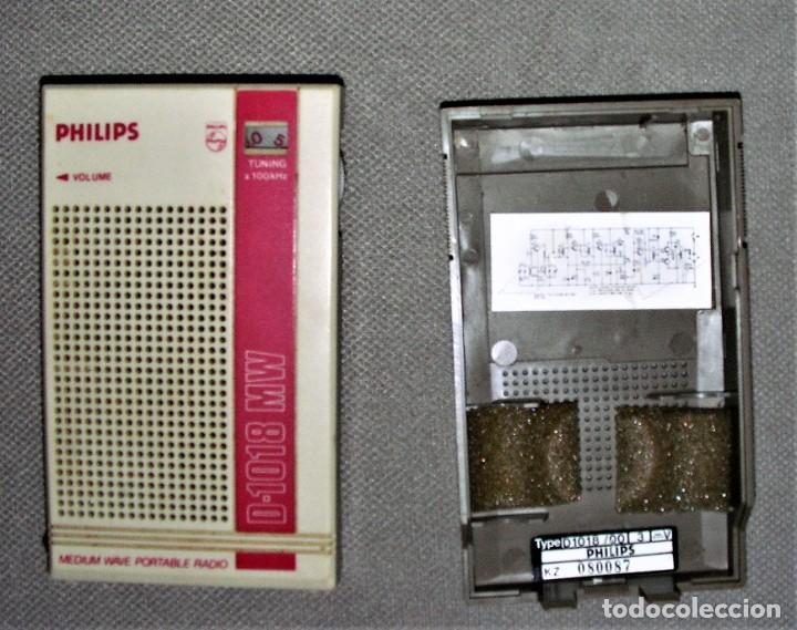 Radios antiguas: RADIO TRANSISTOR PHILIPS D-1018 MW - Foto 3 - 238070275
