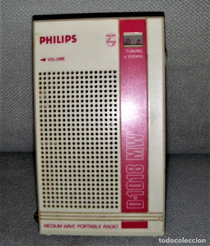 Radios antiguas: RADIO TRANSISTOR PHILIPS D-1018 MW - Foto 5 - 238070275