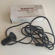 Radios antiguas: SANYO TELEPHONE PICKUP, TL-11. GRABADOR DE TELÉFONO. CON VENTOSA. AÑOS 80. Lote 238106800