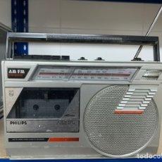 Radios antiguas: RADIO CASETE MARCA PHILIPS. Lote 239722505
