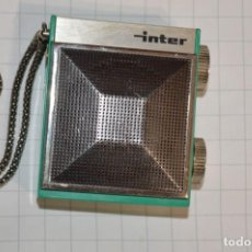 Radios antiguas: UN ICONO AÑOS 60 / RADIO TRANSISTOR INTER / MODELO SLIMTRANSCOLOR - FUNCIONANDO, BUEN ESTADO ¡MIRA!. Lote 239904030
