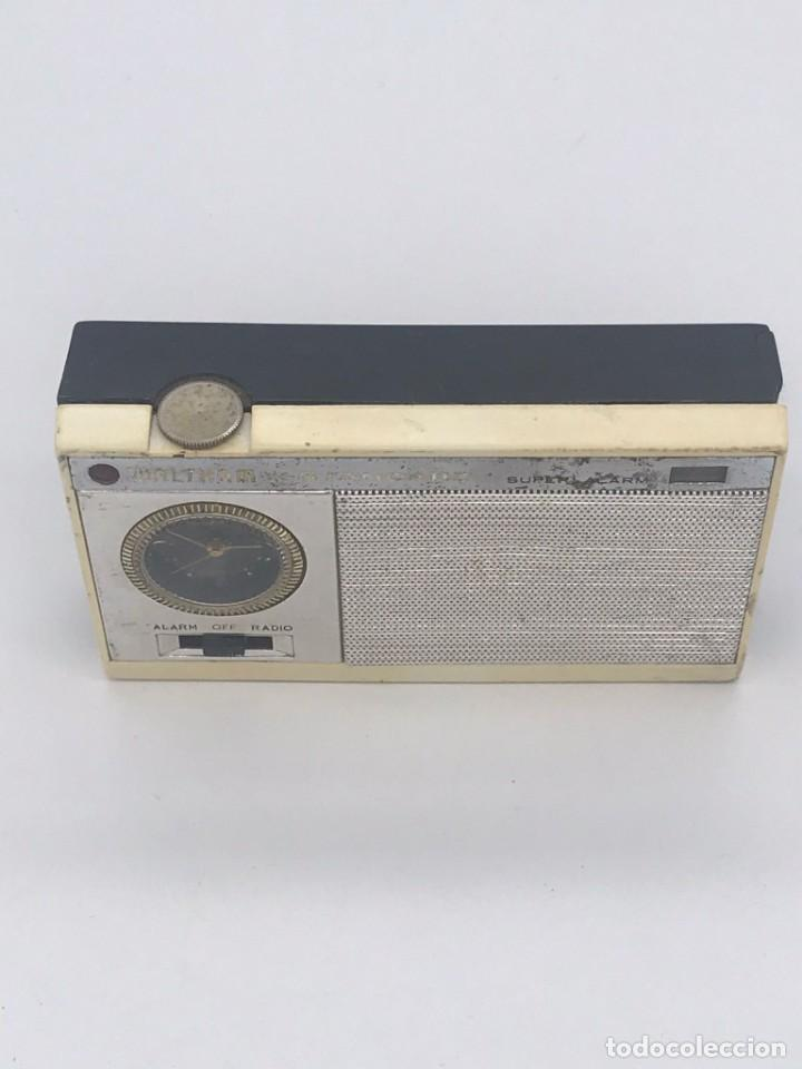 Radios antiguas: ANTIGUO TRANSISTOR WALTHAM * STANDARD SUPER ALARM - Foto 8 - 240001355