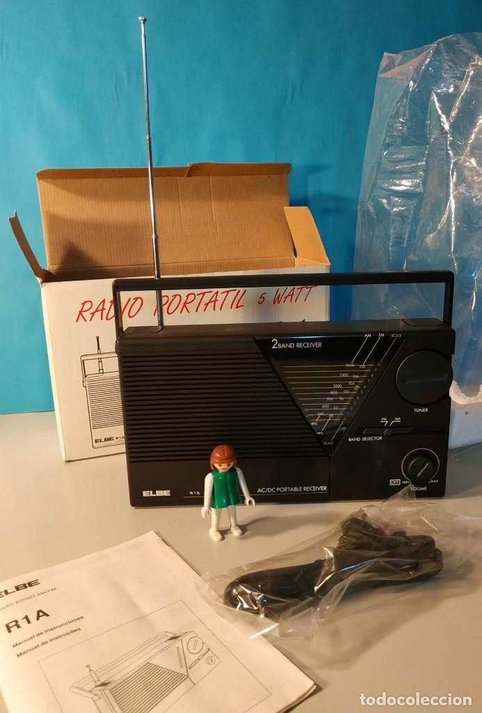 Radios antiguas: Radio vintage portatil 5 watt elbe r-1A Radio vintage de los años 80. SIN USO - NUEVA. - Foto 3 - 242426155