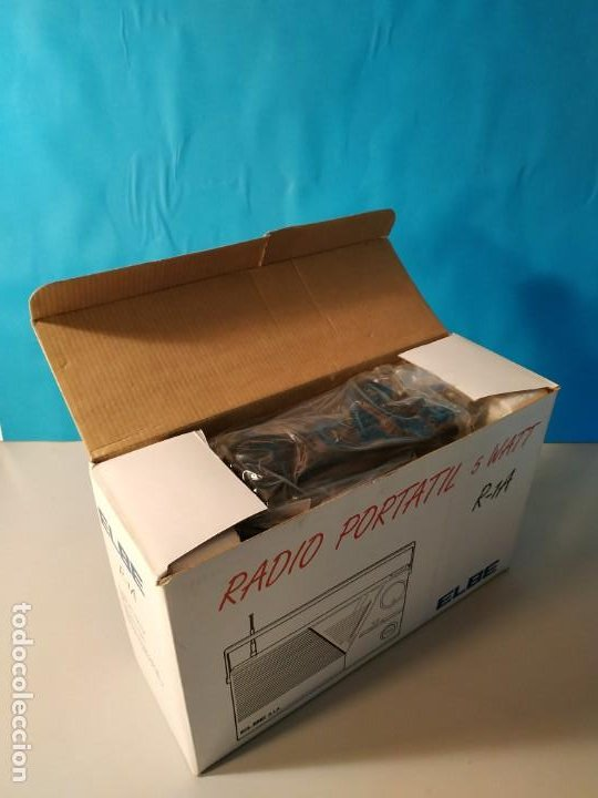 Radios antiguas: Radio vintage portatil 5 watt elbe r-1A Radio vintage de los años 80. SIN USO - NUEVA. - Foto 4 - 242426155