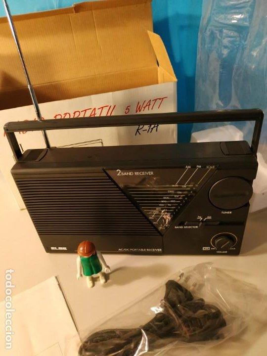 Radios antiguas: Radio vintage portatil 5 watt elbe r-1A Radio vintage de los años 80. SIN USO - NUEVA. - Foto 6 - 242426155