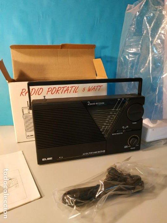 Radios antiguas: Radio vintage portatil 5 watt elbe r-1A Radio vintage de los años 80. SIN USO - NUEVA. - Foto 7 - 242426155