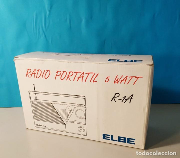 Radios antiguas: Radio vintage portatil 5 watt elbe r-1A Radio vintage de los años 80. SIN USO - NUEVA. - Foto 8 - 242426155