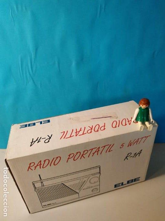 Radios antiguas: Radio vintage portatil 5 watt elbe r-1A Radio vintage de los años 80. SIN USO - NUEVA. - Foto 9 - 242426155