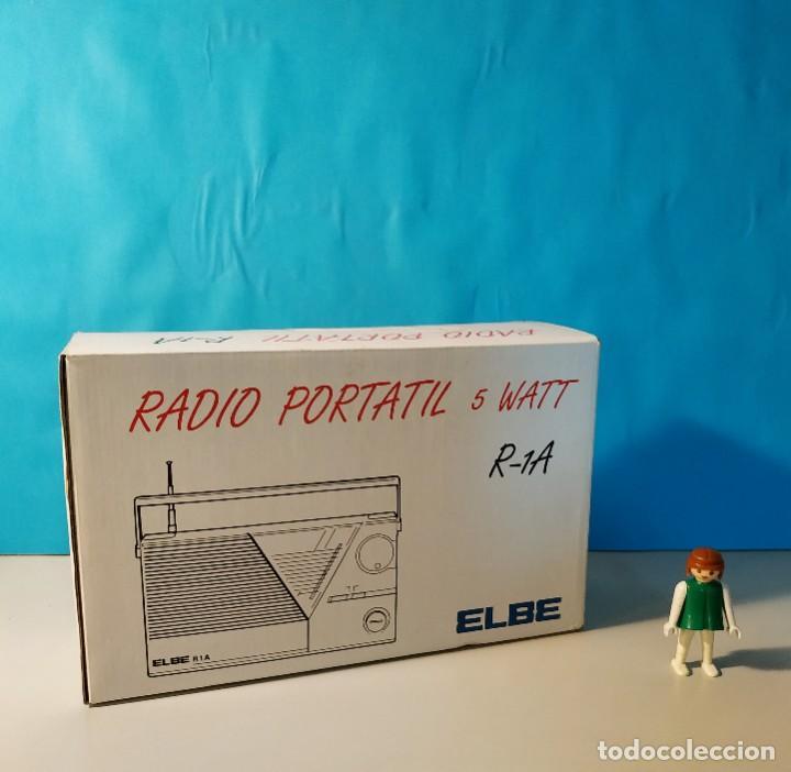 Radios antiguas: Radio vintage portatil 5 watt elbe r-1A Radio vintage de los años 80. SIN USO - NUEVA. - Foto 10 - 242426155