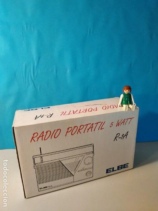 Radios antiguas: Radio vintage portatil 5 watt elbe r-1A Radio vintage de los años 80. SIN USO - NUEVA. - Foto 13 - 242426155