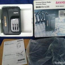 Radios antiguas: SANYO BASSXPANDER MGR-905 (K). WALKMAN DE CASSETTE Y RADIO AM/FM CON ECUALIZADOR EN CAJA NUEVO A EST. Lote 242875610